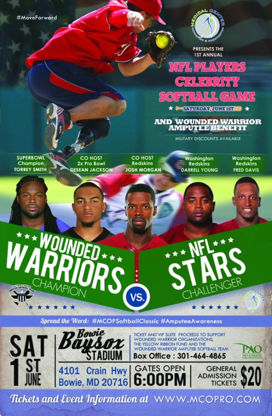 Celebrity Softball Game Flyer