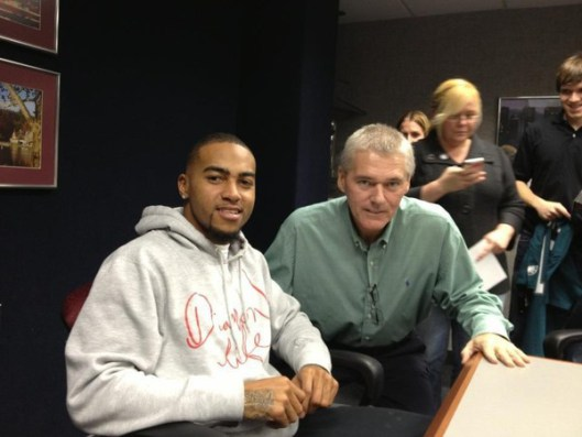 DeSean Jackson and Tom Seagraves, Pancreatic Cancer Survivor & Friend