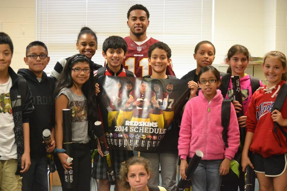 Desean Jackson Delivers Anti Bullying Message At Dogwood Elementary