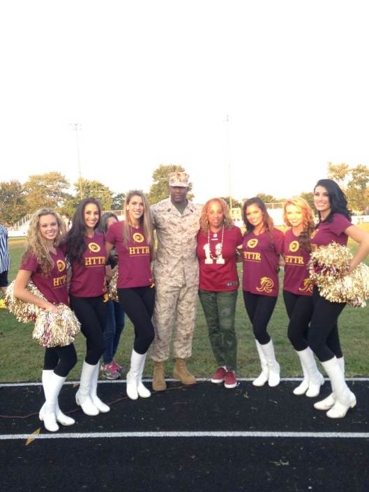 Gayle Jackson, A Military Hero, and Our Beautiful Cheerleaders