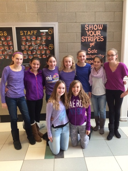 2014 AGS Middle School - Purple Out - Student Advocates