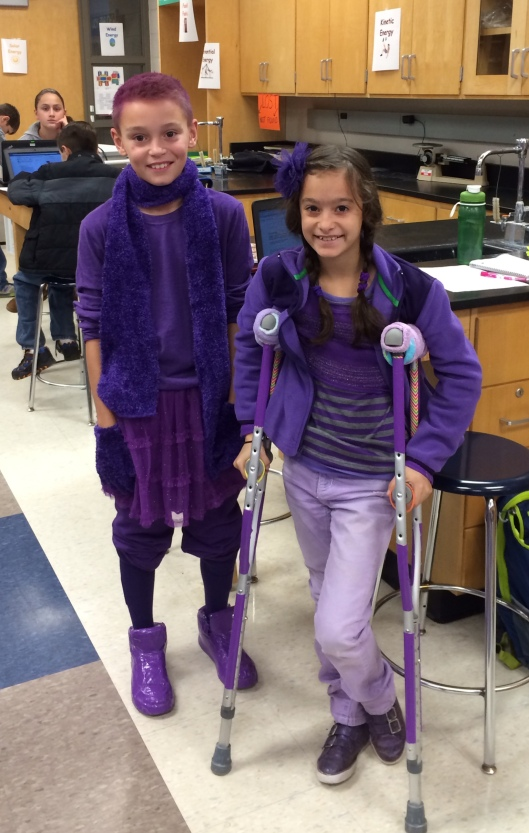 2014 AGS Middle School Purple Out - Purple With a Purple - In Memory of William 'Bill' Jackson, DeSean's Father.