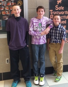 2014 AGS Middle School - Purple Out - Students Advocate for Pancreatic Awarenss