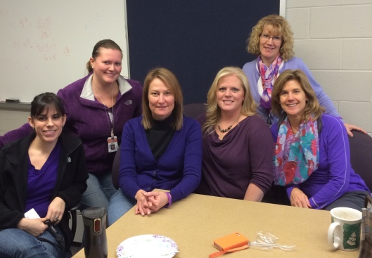 AGS Middle School Faculty & Staff - 2014 Purple Out