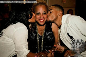 A'dreea, Gayle and DeSean Jackson