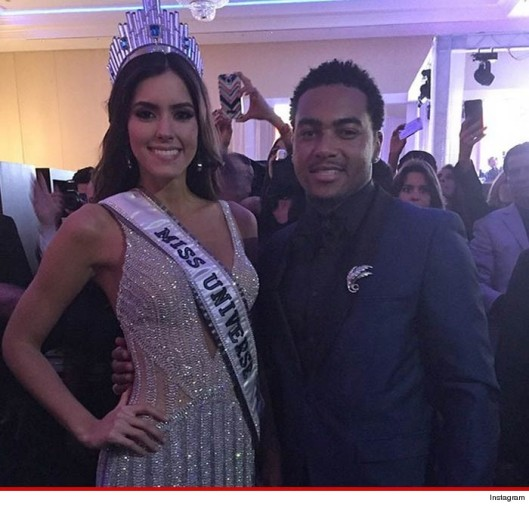 Miss Universe, 2015 and DeSean Jackson, Pageant Judge