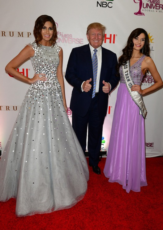 Mr. Donald Trump with Miss Teen USA and Miss Universe