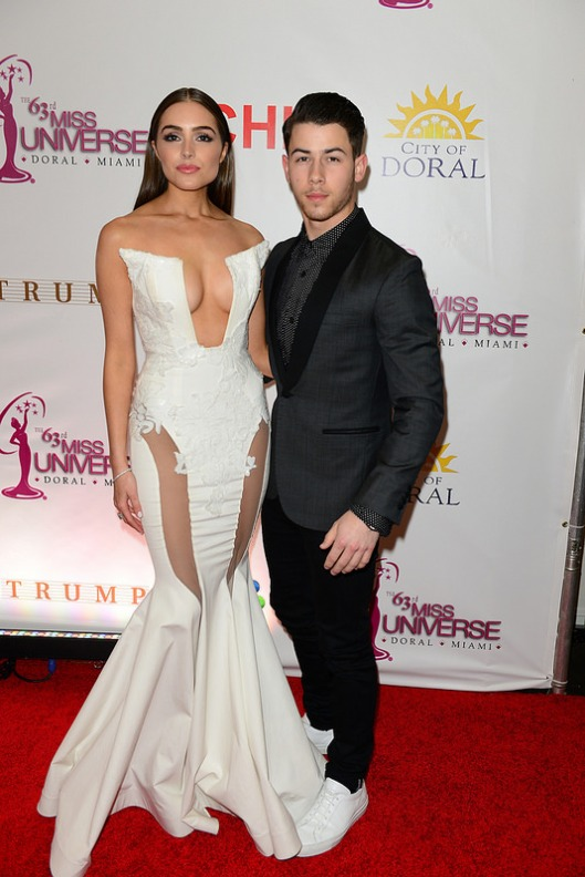 Olivia Culpo, Miss Universe 2014 and boyfriend Nick Jonas