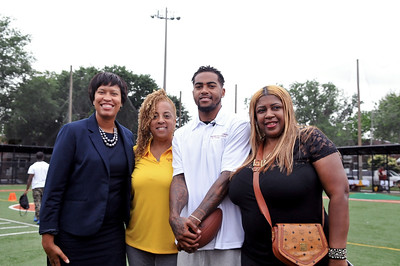 Mayor Bowser, Gayle and DeSean Jackson, Cherita Whiting