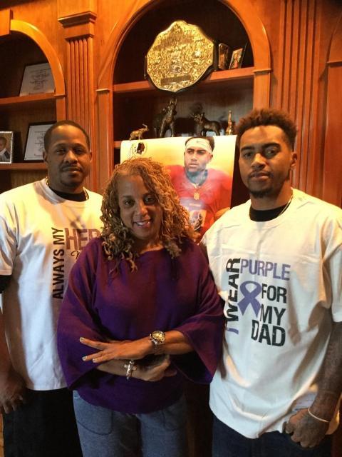 Jay, Gayle and DeSean Jackson - 2015 World Cancer Awareness Day