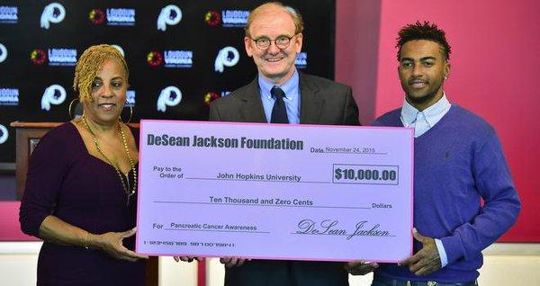 Gayle Jackson,  Dr. Ralph Hruban, M.D., DeSean Jackson