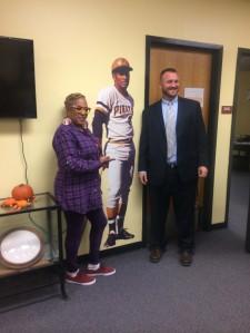 Gayle Jackson, Roberto Clemente, and Jeff Brown, Principal