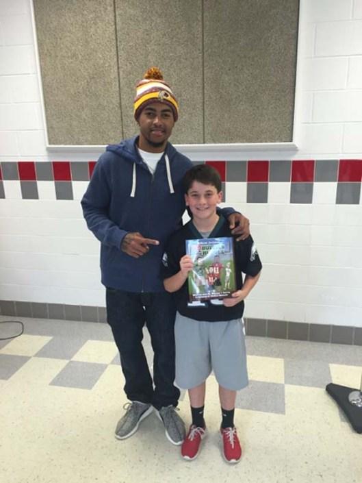 DeSean Jackson, Washington Redskin, and honorary school escort