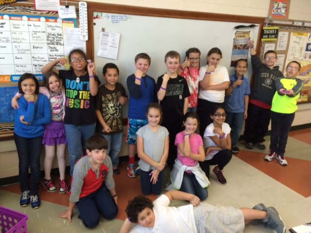 Purple Awareness:  Mrs. Tessa Poston's 4th grade class